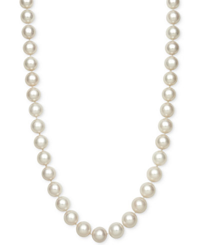 Belle de Mer Cultured Akoya Pearl (9mm) Strand Necklace, Created for Macy's