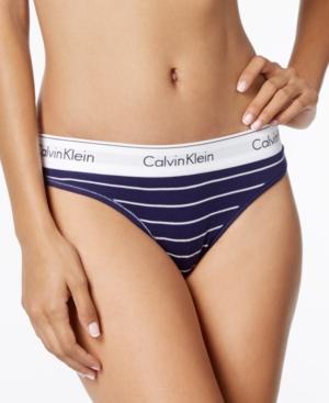 Calvin Klein  MODERN COTTON LOGO-WAIST THONG QF4120