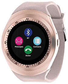 iTOUCH Unisex Curve Blush Silicone Strap Touchscreen Smart Watch 44mm