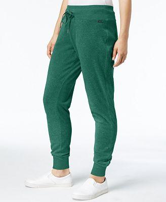 Calvin Klein Velour Drawstring Jogger Pants, Created for Macy's