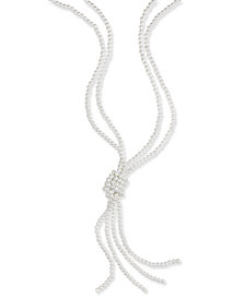 Charter Club Gold-Tone Imitation Pearl Knotted Lariat Necklace, Created for Macy's