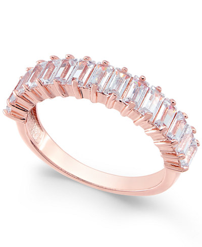 Charter Club Rose Gold-Tone Baguette Ring, Created for Macy's