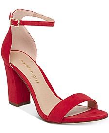 Bella Two-Piece Block Heel Sandals