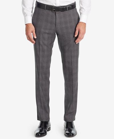 BOSS Men's Slim-Fit Glen Check Dress Pants