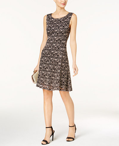 Connected Embellished Lace Shift Dress
