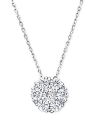 Search results for tiffany pendant necklace macys diamond flower cluster pendant necklace in 14k white gold 14 ct tw aloadofball Image collections