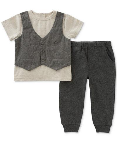 Calvin Klein 2-Pc. Vest T-Shirt & Jogger Pants Set, Baby Boys