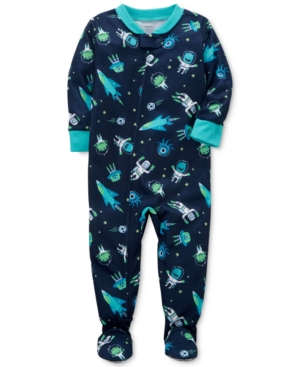 Carters 1Pc SpacePrint Footed Pajamas Baby Boys (024 months)