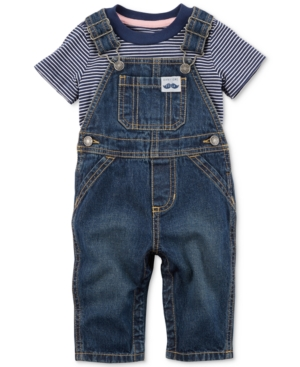 Carters 2Pc Cotton TShirt  Denim Overalls Set Baby Boys (024 months)