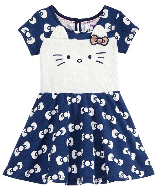 6c99c2cc07 ... Hello Kitty Bows-Print Kitty Face Dress