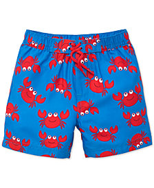 Little Me Crab-Print Swim Trunks, Baby Boys