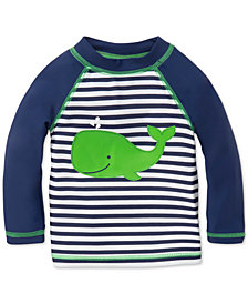 Little Me Striped Whale Rash Guard, Baby Boys