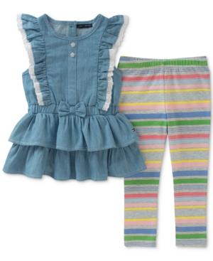 Tommy Hilfiger 2Pc Denim Tunic  Striped Leggings Set Baby Girls (024 months)