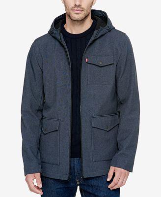 Levi's® Men's Soft-Shell Hooded Parka - Coats & Jackets - Men - Macy's
