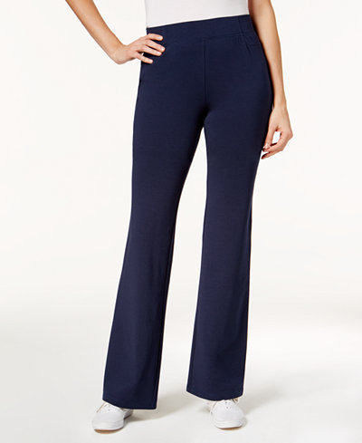 Charter Club Pull-On Straight-Leg Pants, Created for Macy's