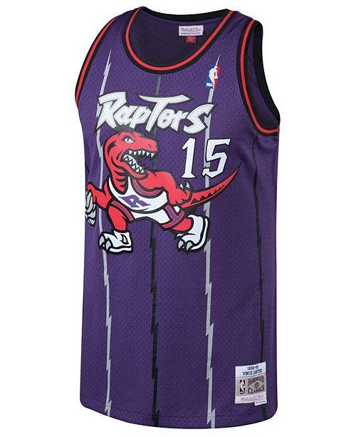 Mitchell   Ness Men s Vince Carter Toronto Raptors Hardwood Classic  Swingman Jersey ... 879be6279