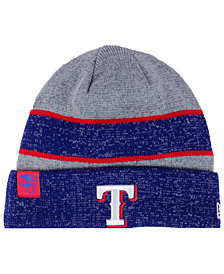 New Era Texas Rangers On Field Sport Knit Hat