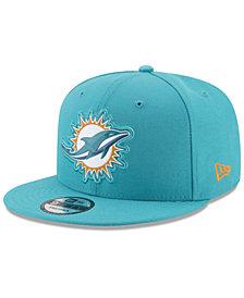 New Era Miami Dolphins Bold Bevel 9FIFTY Snapback Cap