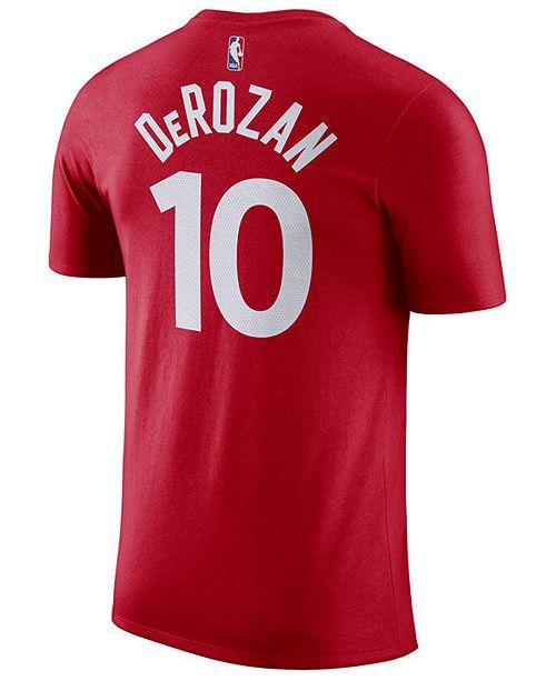 promo code a4536 85224 Men's Demar Derozan Toronto Raptors Name & Number Player T-Shirt
