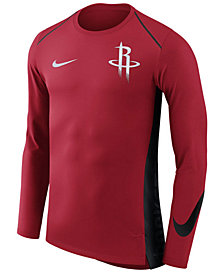 Nike Men's Houston Rockets Hyperlite Shooter Long Sleeve T-Shirt
