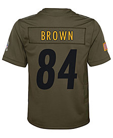 Nike Antonio Brown Pittsburgh Steelers Salute To Service Jersey, Big Boys (8-20)