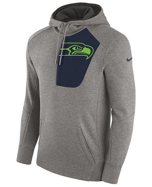 Nike Men s Seattle Seahawks Fly Fleece Hoodie - Sports Fan Shop By ... 070dbcec6