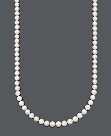 "Belle de Mer AA+ 36"" Cultured Freshwater Pearl Strand Necklace (8-1/2-9-1/2mm) in 14k Gold"