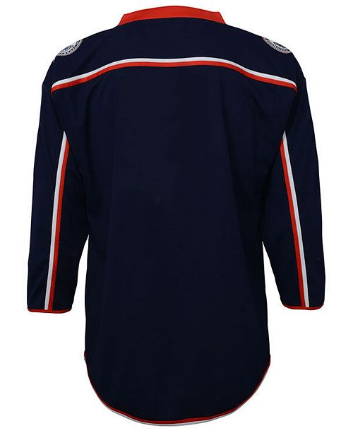 Authentic NHL Apparel Columbus Blue Jackets Blank Replica