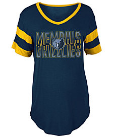 5th & Ocean Women's Memphis Grizzlies Hang Time Glitter T-Shirt