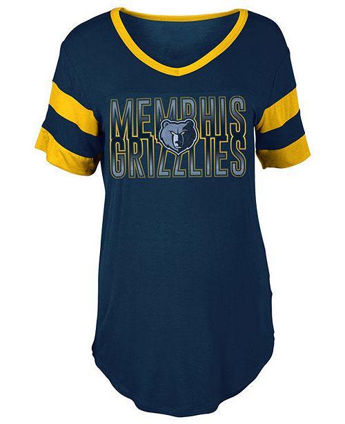 5th & Ocean Women's Memphis Grizzlies Hang Time Glitter T-Shirt