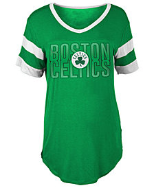 5th & Ocean Women's Boston Celtics Hang Time Glitter T-Shirt
