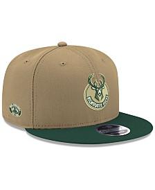 finest selection fd22f bc987 New Era Milwaukee Bucks Basic Link 9FIFTY Snapback Cap