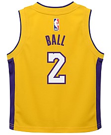 Nike Lonzo Ball Los Angeles Lakers Icon Replica Jersey, Little Boys (4-7)