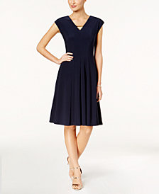 Love Scarlett Petite Fit & Flare Hardware-Cutout Dress, Created for Macy's