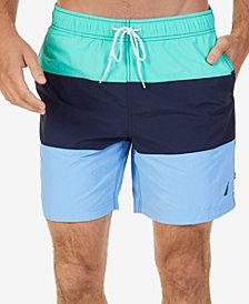 """Nautica Men's Tri-Block 8"""" Swim Trunks"""