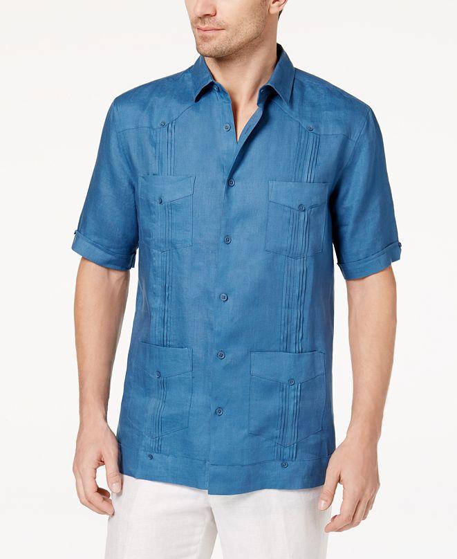 Tasso Elba Men's Linen Shirt, Created for Macy's