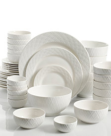 White Elements Lexington 42-Pc. Dinnerware Set, Service for 6
