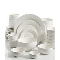 Deals on Gibson White Elements Lexington 42-Pc Dinnerware Set