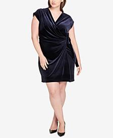 Plus Size Velvet Wrap Dress, Created for Macy's