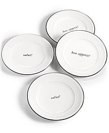 York Avenue 4-Pc. Tidbits Plate Set