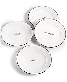 kate spade new york York Avenue 4-Pc. Tidbits Plate Set