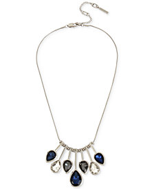 Kenneth Cole New York Silver-Tone Multi-Stone Statement Necklace