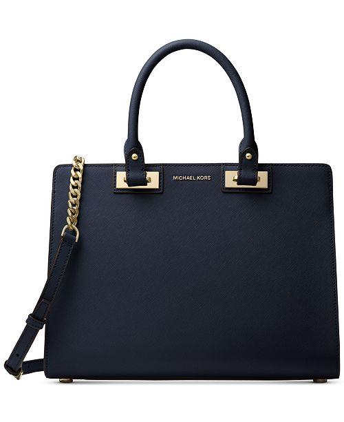 3821f34da388 Michael Kors Quinn Large Satchel - Handbags   Accessories - Macy s