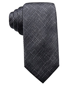 Ryan Seacrest Distinction™ Men's Orwell Unsolid Solid Slim Silk Tie, Created for Macy's