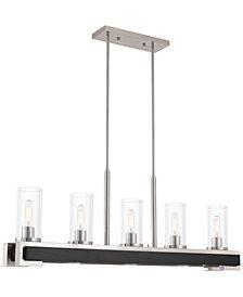Livex Buttonwood 8-Light Linear Chandelier