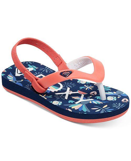 4ca74af98a Roxy Tahiti VI Flip-Flop Sandals, Toddler Girls (4.5-10.5) & Little ...