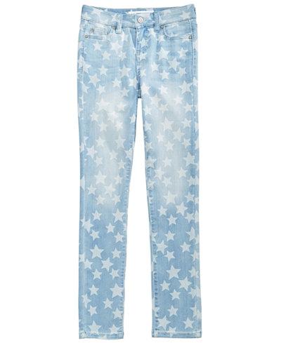 Celebrity Pink Star-Print Skinny Jeans, Big Girls