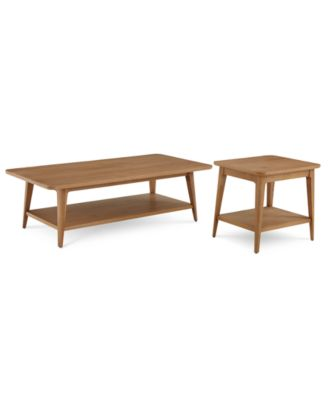 Martha Stewart Collection Brookline Occasional Table Furniture, 2-Pc. Set (Coffee Table and End Table), Created for Macy's