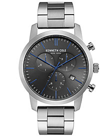 Kenneth Cole New York Men's Chronograph Stainless Steel Bracelet Watch 44mm
