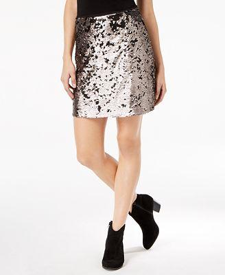 1.STATE Sequinned Mini Skirt